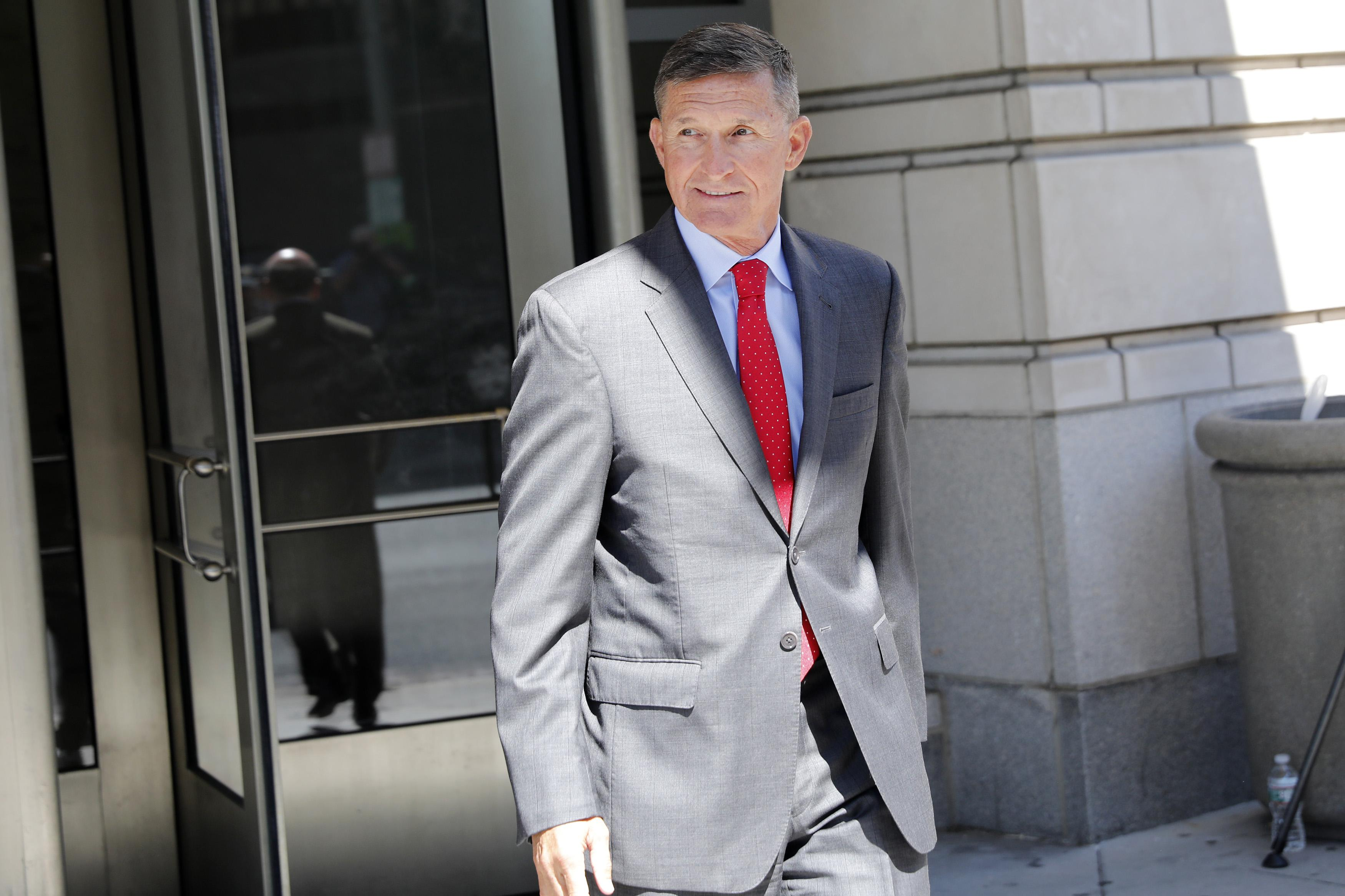 Former National Security Advisor Mike Flynn following a hearing July 10, 2018 in Washington, DC.