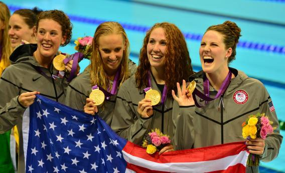 Allison Schmitt and Missy Franklin