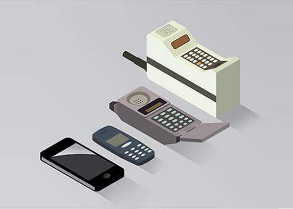Cell Phone Evolution.