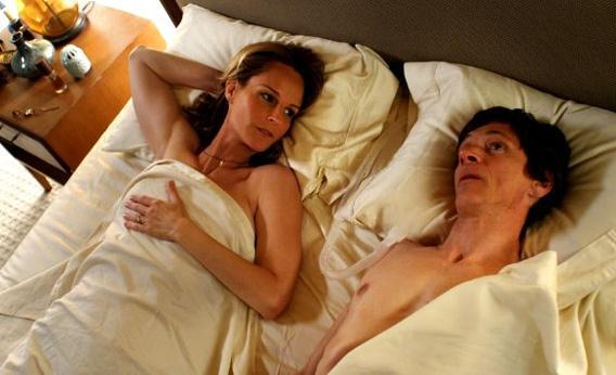 Helen Hunt and John Hawkes in The Sessions.