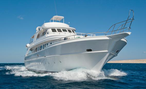 A yacht.