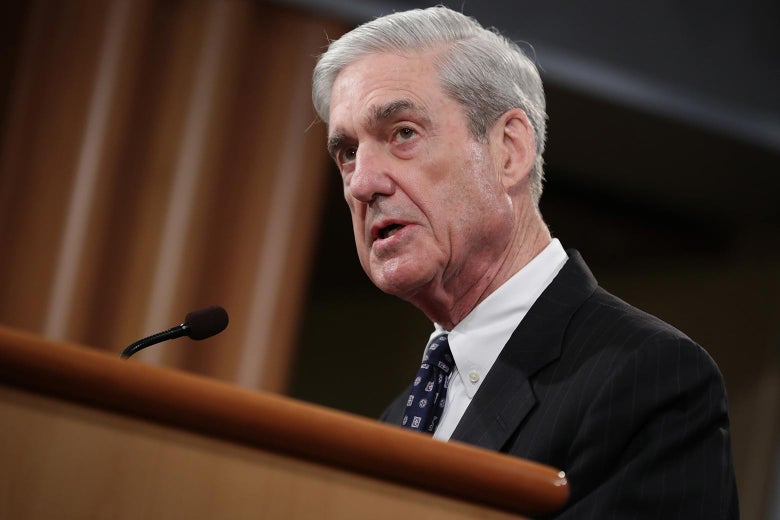 Special counsel Robert Mueller makes his statement almost a month after the Mueller report's publication in Washington on May 29.
