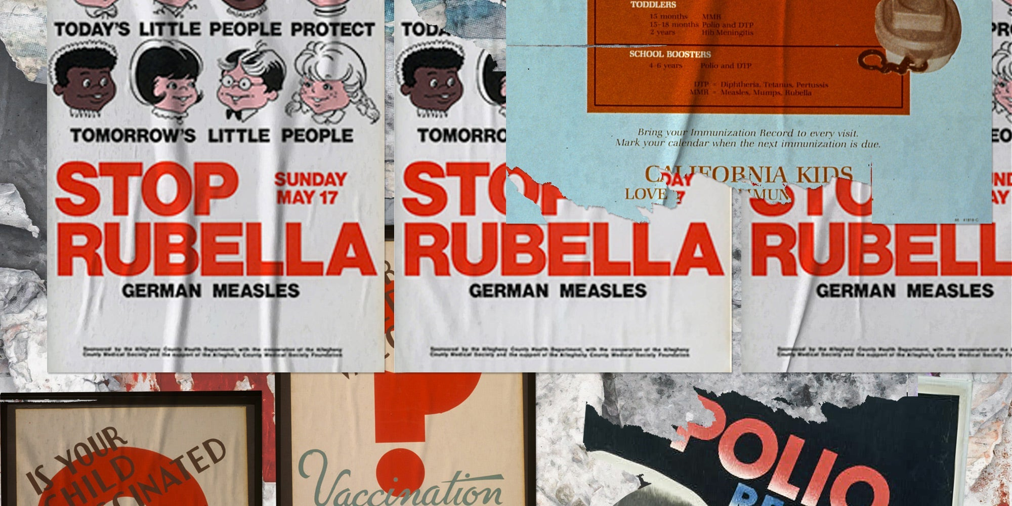 Various vaccination campaign posters.