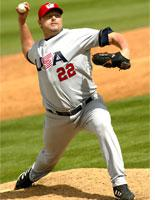 Roger Clemens pitches against Team South Africa         Click on image to expand.