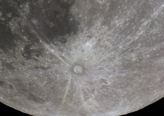 The crater Tycho on the Moon