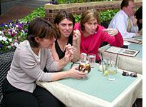 Enjoying a banana split with Courtney and her friend Kristen