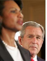 Condoleezza Rice and George Bush. Click image to expand.