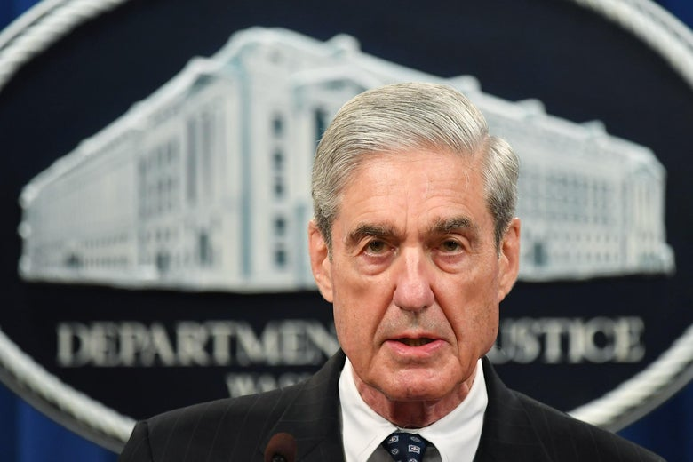 Special Counsel Robert Mueller speaks on the investigation into Russian interference at the Justice Department in Washington, DC, on May 29, 2019.
