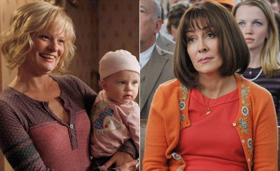 LEFT: Virginia (Martha Plimpton) introduces Hope RIGHT: Frankie (Patricia Heaton) from The Middle