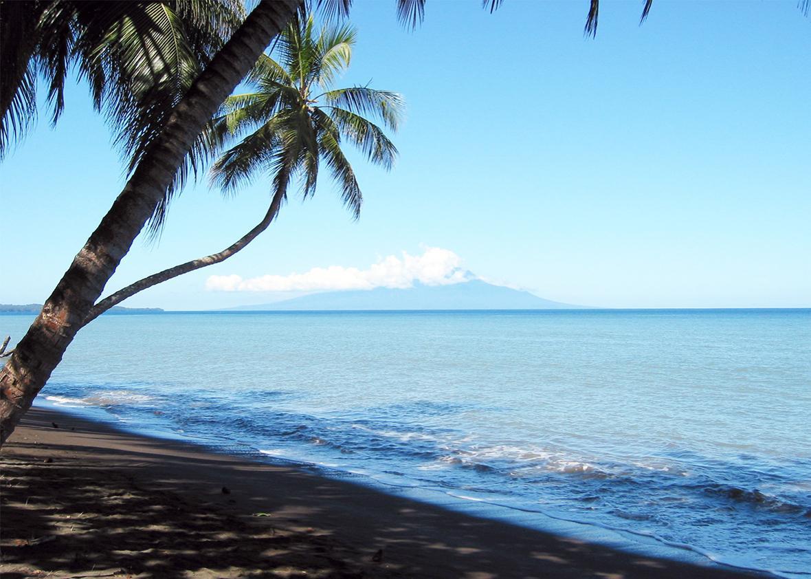 Beach in Papua New Guinea.