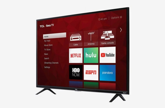 TCL 43S425 43 Inch 4K Ultra HD Smart Roku LED TV (2018).