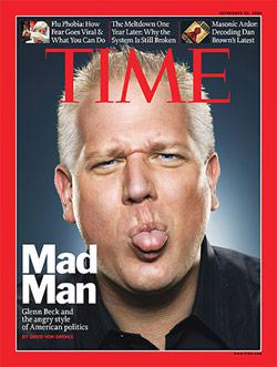 Time Magazine with Glenn Beck on the cover. Click image to expand.