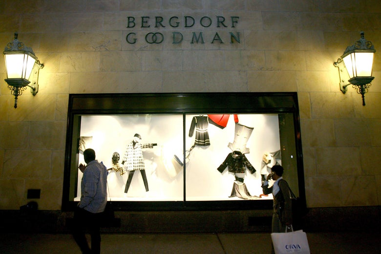 The luxury department store Bergdorf Goodman where E. Jean Carroll says Donald Trump sexually assaulted her in the mid-1990s.