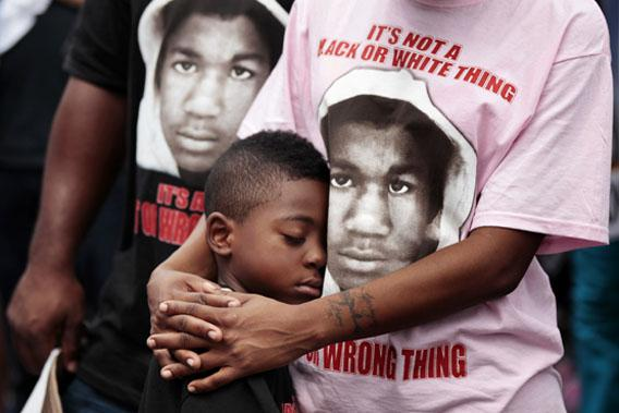 Rally in front of the Sanford Police Department for Trayvon Martin.