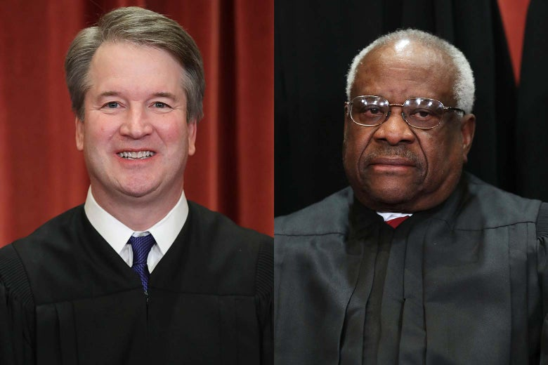Justice Brett Kavanaugh and Justice Clarence Thomas