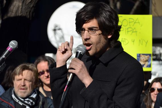 Demand Progress founder and director Aaron Swartz January 2012.