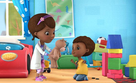 Doc McStuffins on Disney Junior.