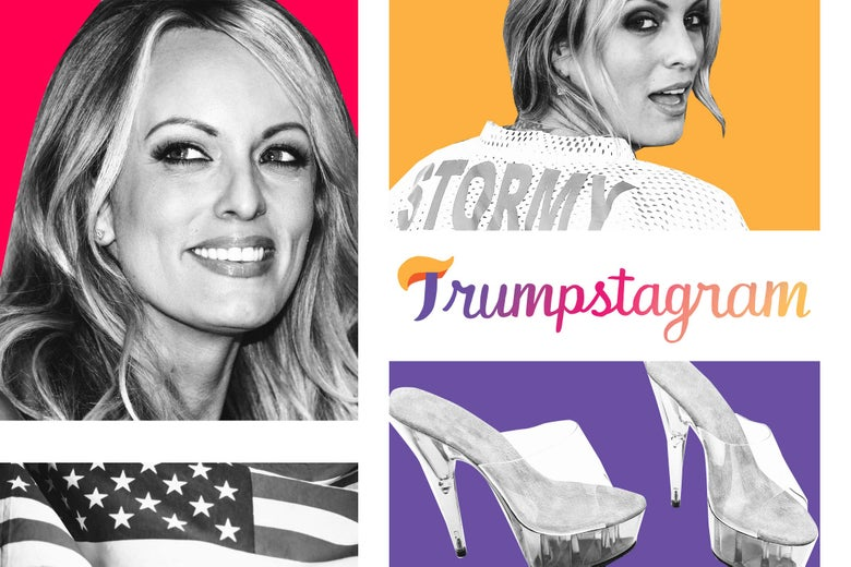 Stormy Daniels and heels.