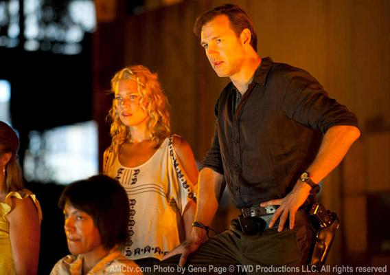 Andrea (Laurie Holden) and the Governor (David Morrissey) in Season 3, Episode 5.