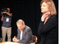 Charlie Rose and Ariana Huffington. Click image to expand.