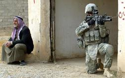 A U.S. soldier in al-Hadid in Iraq. Click image to expand.