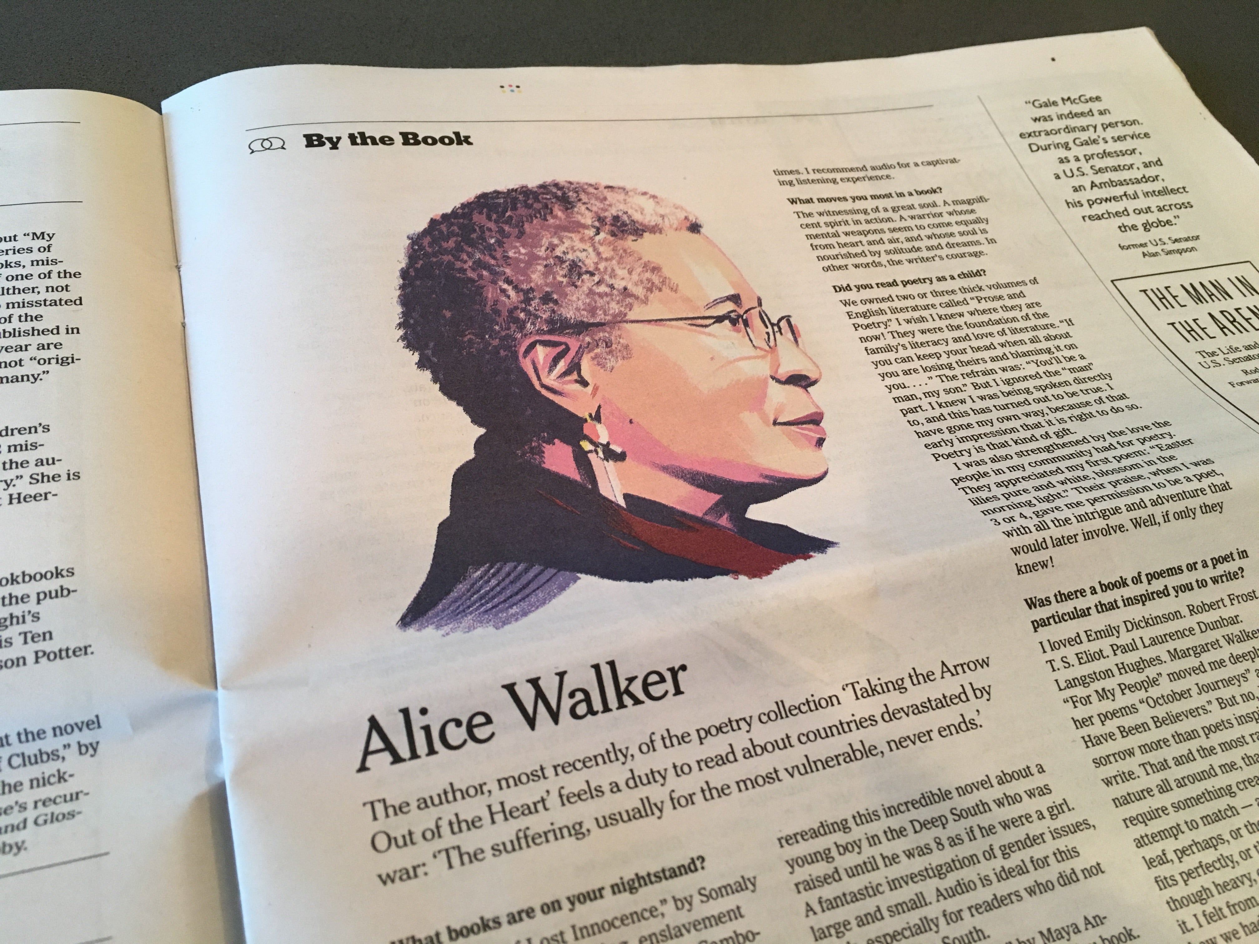 "The New York Times Book Review ""By the Book"" interview with Alice Walker."