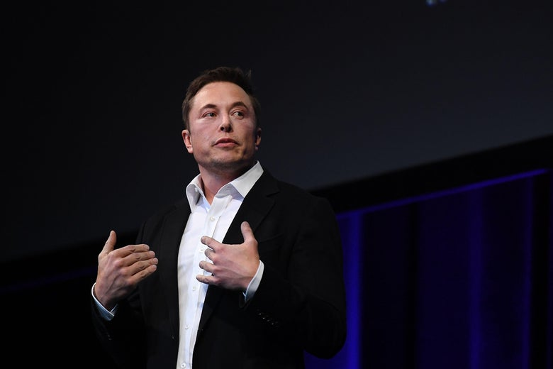 ADELAIDE, AUSTRALIA - SEPTEMBER 29:  SpaceX CEO Elon Musk speaks at the International Astronautical Congress on September 29, 2017 in Adelaide, Australia. Musk detailed the long-term technical challenges that need to be solved in order to support the creation of a permanent, self-sustaining human presence on Mars.  (Photo by Mark Brake/Getty Images)
