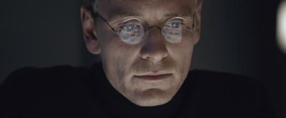 Michael Fassbender in Steve Jobs.
