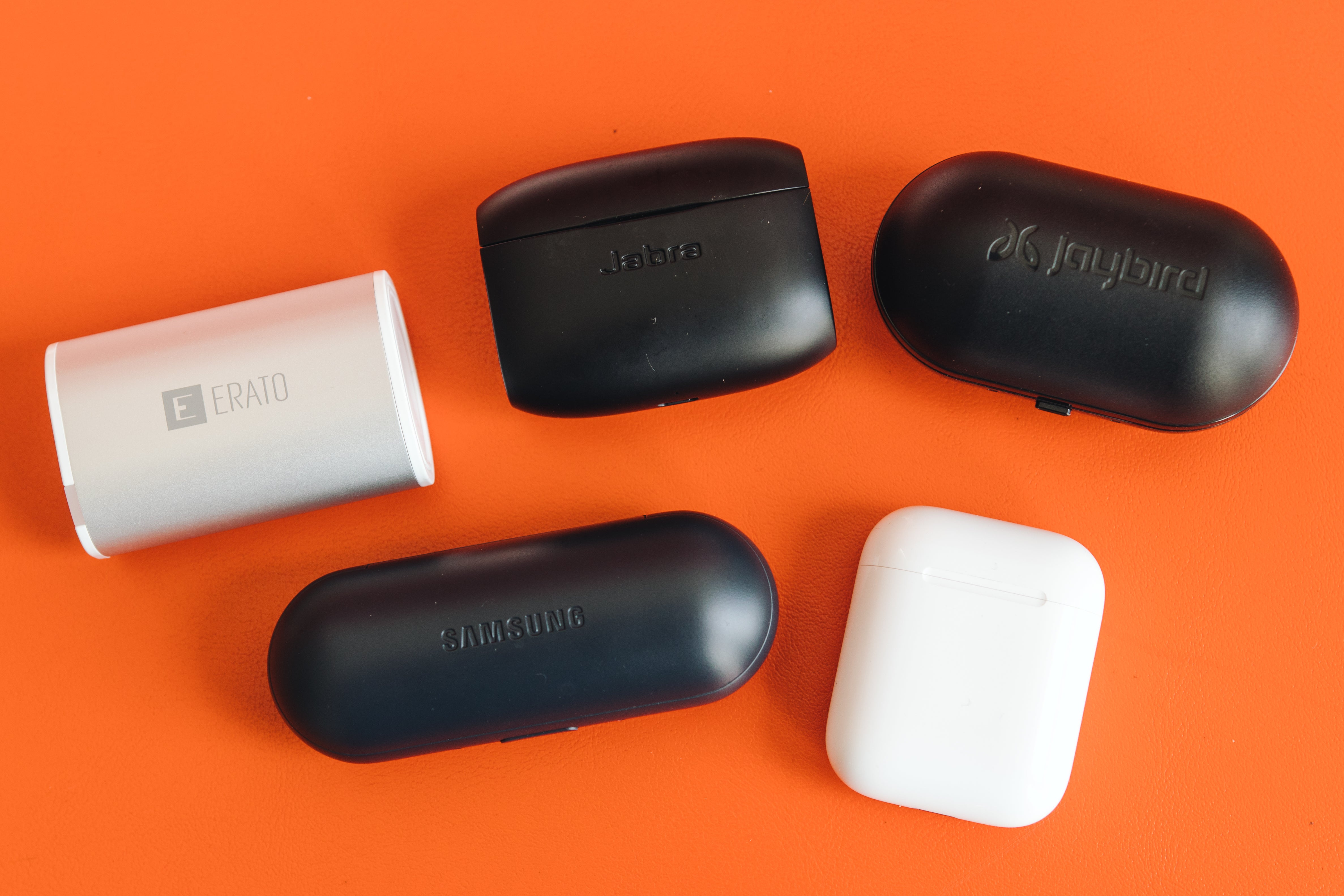 Various earbud cases.