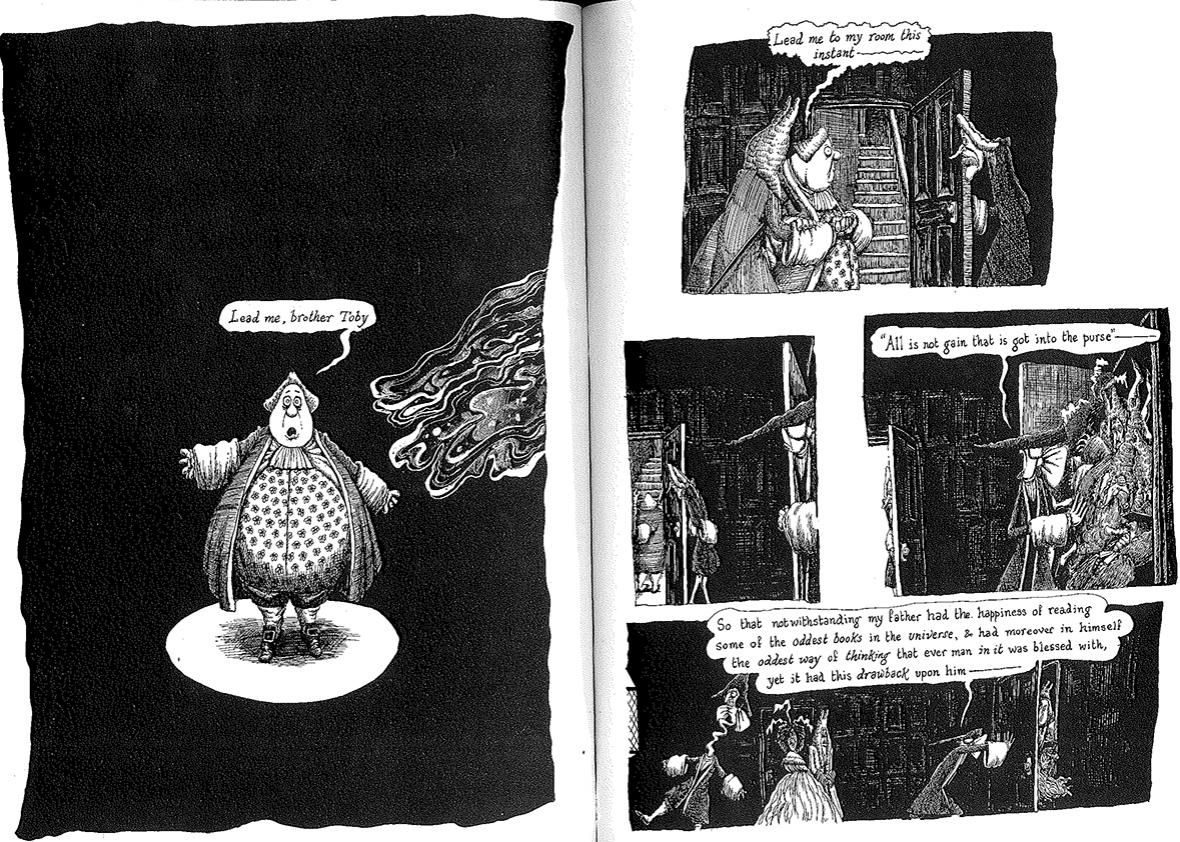 Scan from Tristam Shandy: The Comic Book 2.