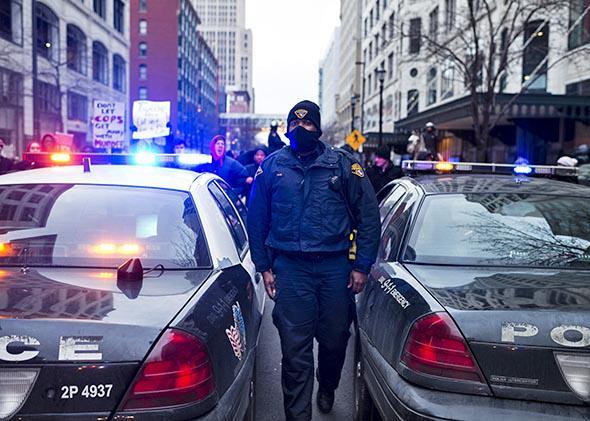 Cleveland Police Officer.