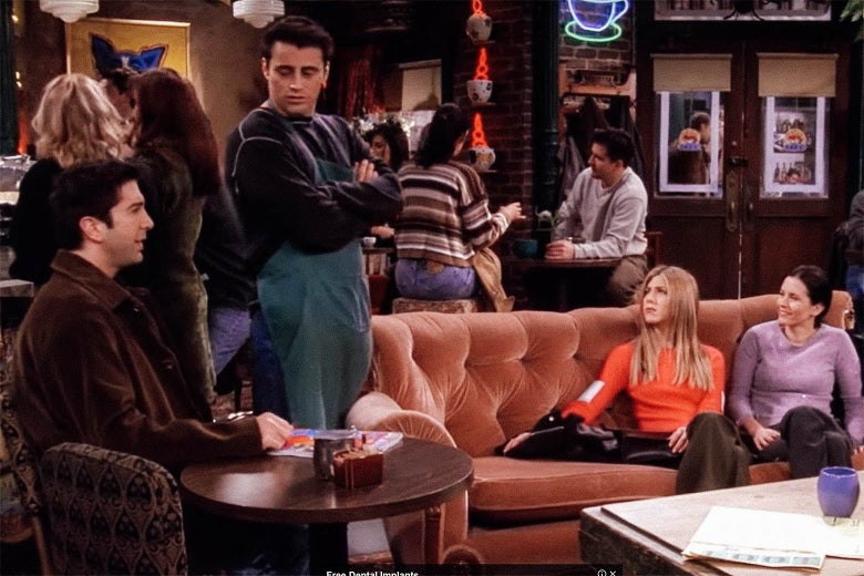The cast of Friends at Central Perk.
