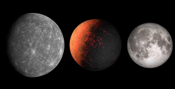 size comparison: Mercury, Kepler-37b, the Moon