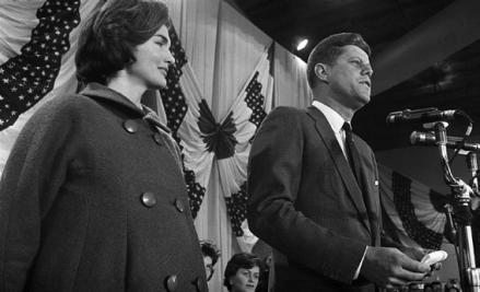 U.S. Democratic nominee, Sen. John Fitzgerald Kennedy and his wife, Jacqueline