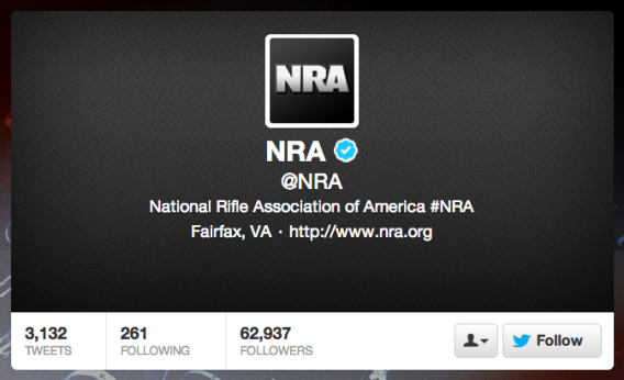 NRA Twitter page