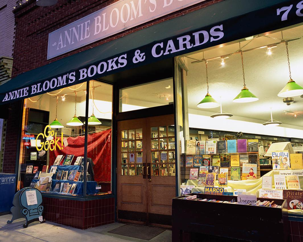 The store has its own personality at different times, even different times of the day. We get different types of people in during the day, in the morning, and we're open until 10 at night. We get younger people in at night. –Will Peters, manager, Annie Bloom's Books, Portland, OR