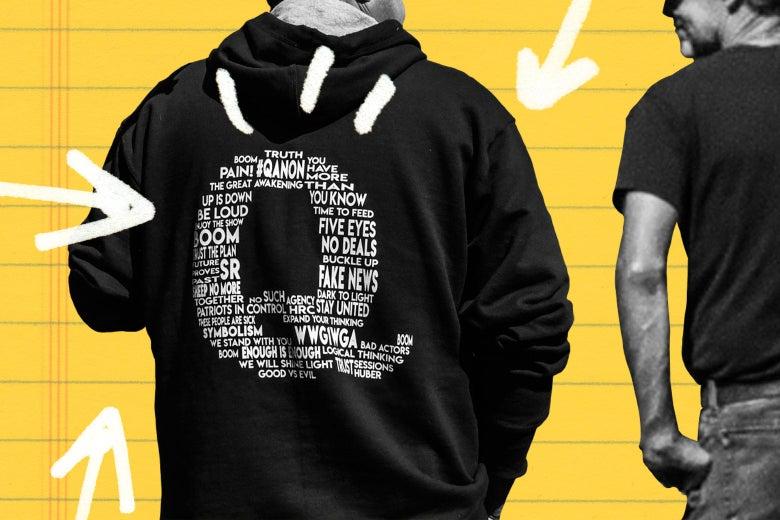 Someone with a Qanon sweatshirt.
