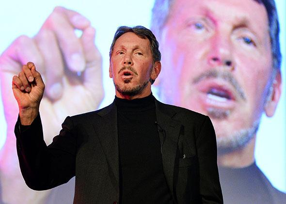 Larry Ellison, CEO of Oracle Corporation.