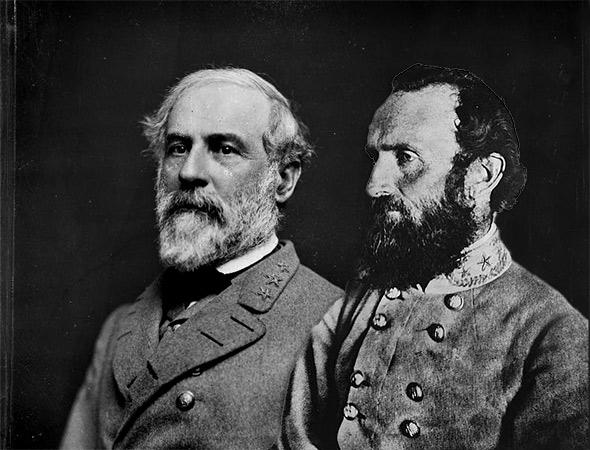Gen. Robert E. Lee and Stonewall Jackson
