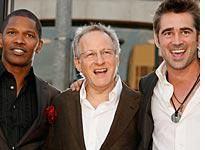 Jamie Foxx, Michael Mann, and Colin Farrell. Click image to expand.