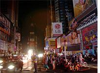 Times Square: Dark but not demoralized