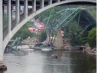 Collapsed bridge. Click image to expand.