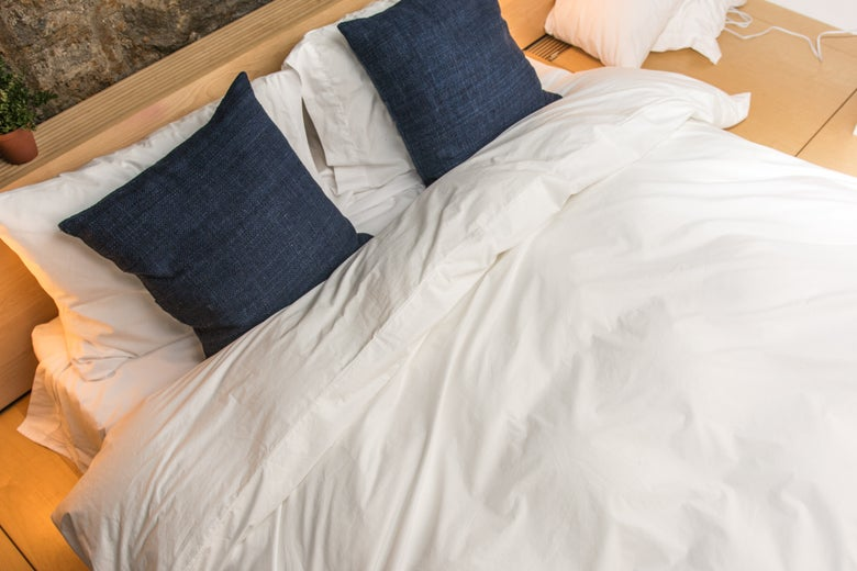 Brooklinen Classic Duvet Cover on a bed