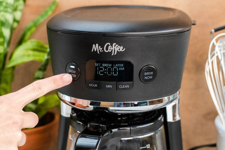 The buttons on the Mr. Coffee Easy Measure