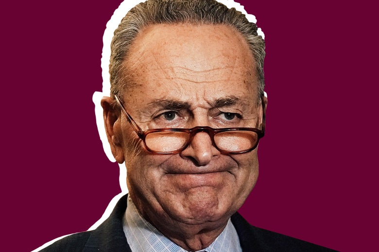 Chuck Schumer looking frustrated.