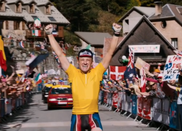 Ben Foster as Lance Armstrong in the trailer for The Program.