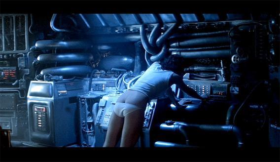 Ripley (Sigourney Weaver) in Alien