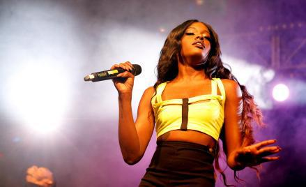 Azealia Banks performs on the Dance Stage during the Reading Festival