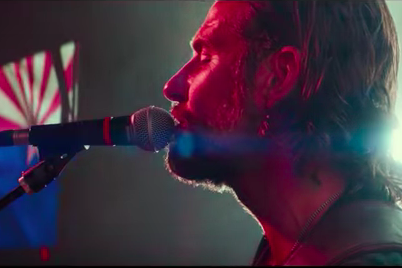 Bradley Cooper singing in character.