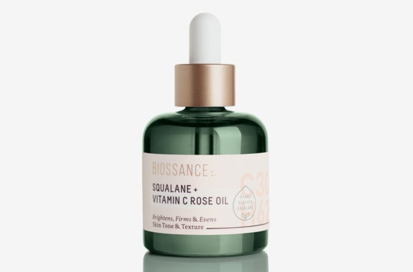 Biossance Squalane + Vitamin C Rose Oil.